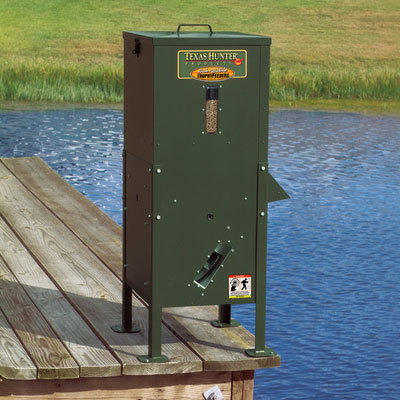 Automatic fish feeder harietta hills pond and water for Fish feeders for ponds