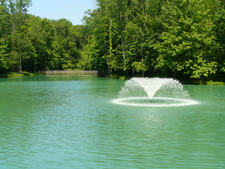 Pond Fountain Installation